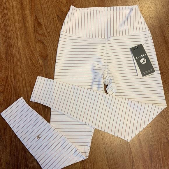 7c5638dbf8f9f Glyder Pants | Sultry Legging Nwt White Copper Stripe Lg | Poshmark